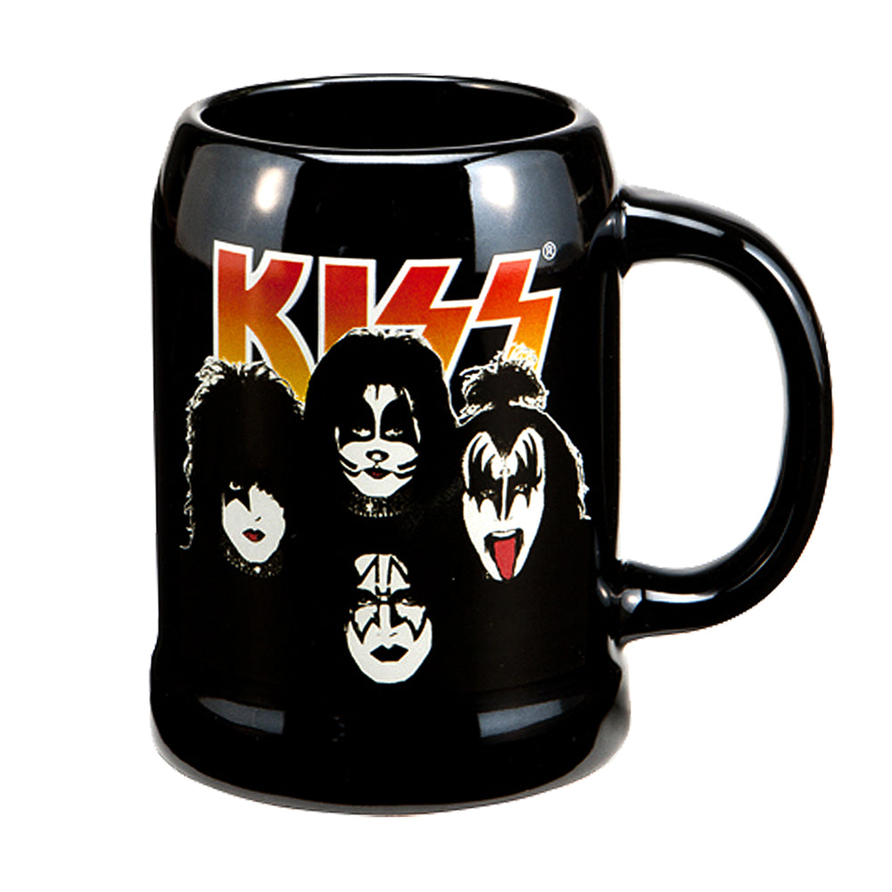 KISS Collectible 2012 Vandor Band Member Faces 20 oz Ceramic Stein