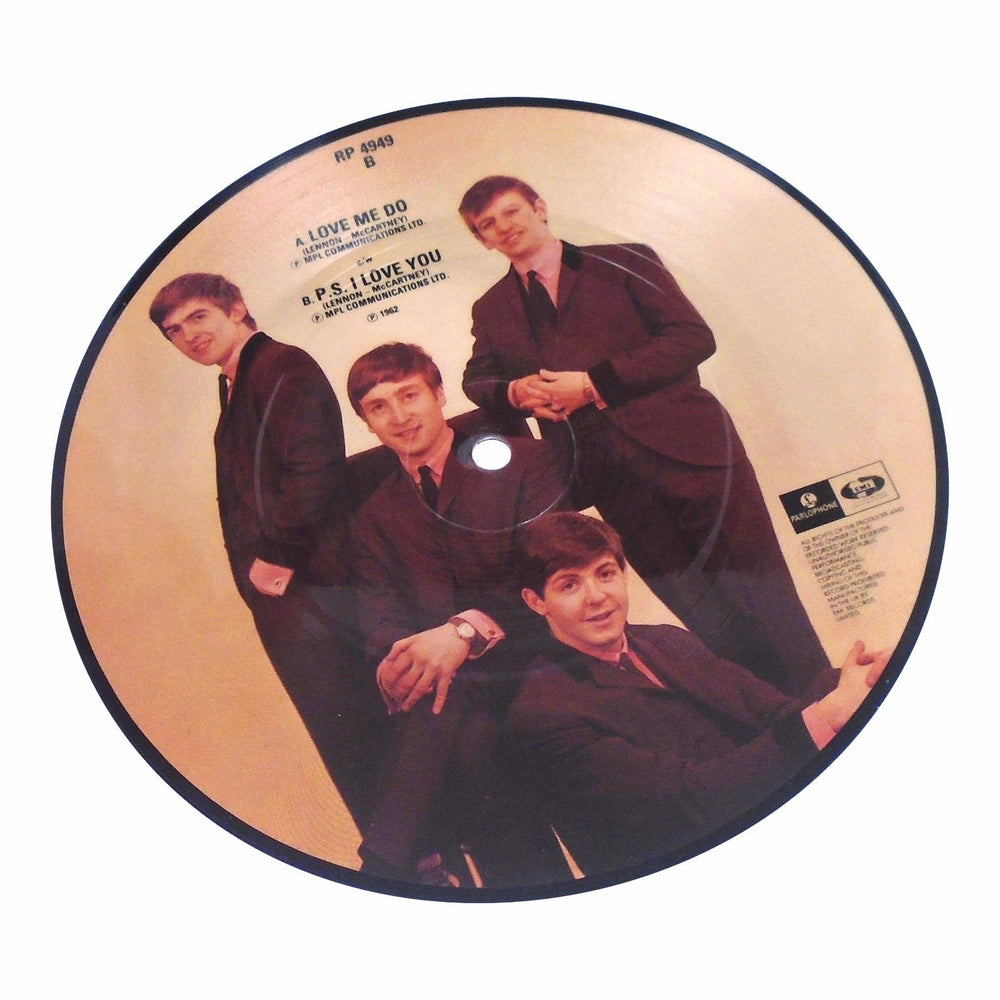 Beatles Collectible 1989 EMI 20th Anniversary 45 Picture Disc Love Me Do - RP4949
