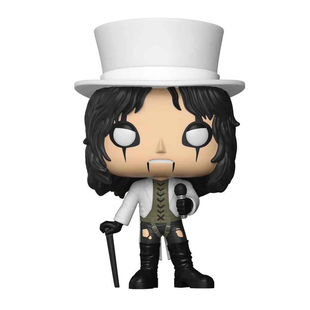 Alice Cooper Handpicked 2018 Funko Pop! Rocks White Top Hat Vinyl Figure