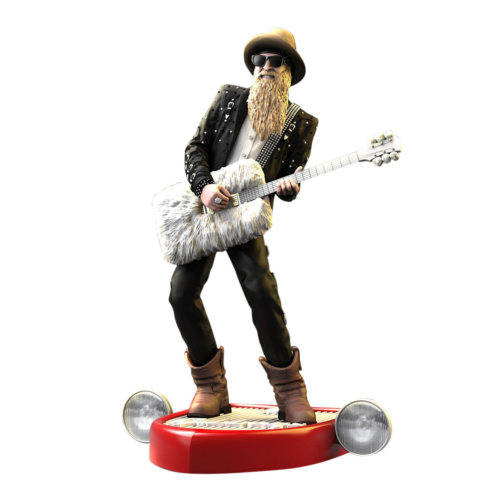 ZZ Top Collectible 2018 KnuckleBonz Rock Iconz Billy Gibbons Statue Figure