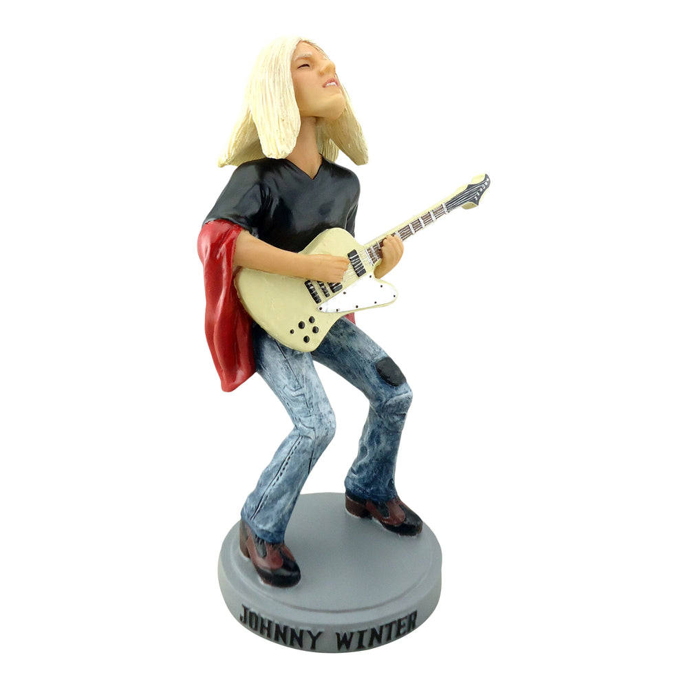 "Johnny Winter 2013 Aggronautix ""1976 Captured Live"" Guitar Gods Bobblehead"