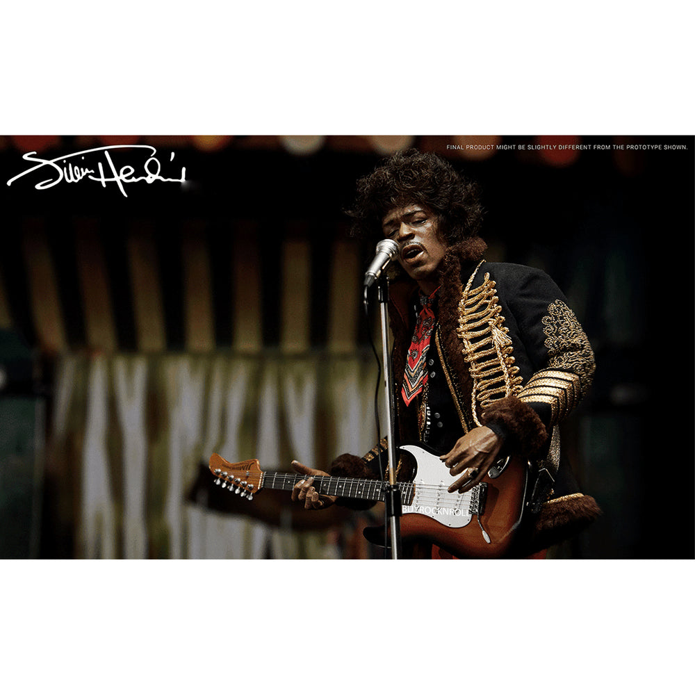 "Jimi Hendrix Collectible 2020 Blitzway Premium UMS 1/6th Scale Action 12""+ Figure"