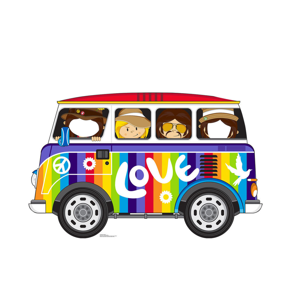 Summer of Love Collectible: 2017 Hippie Love Bus Cardboard Standup/Stand-In