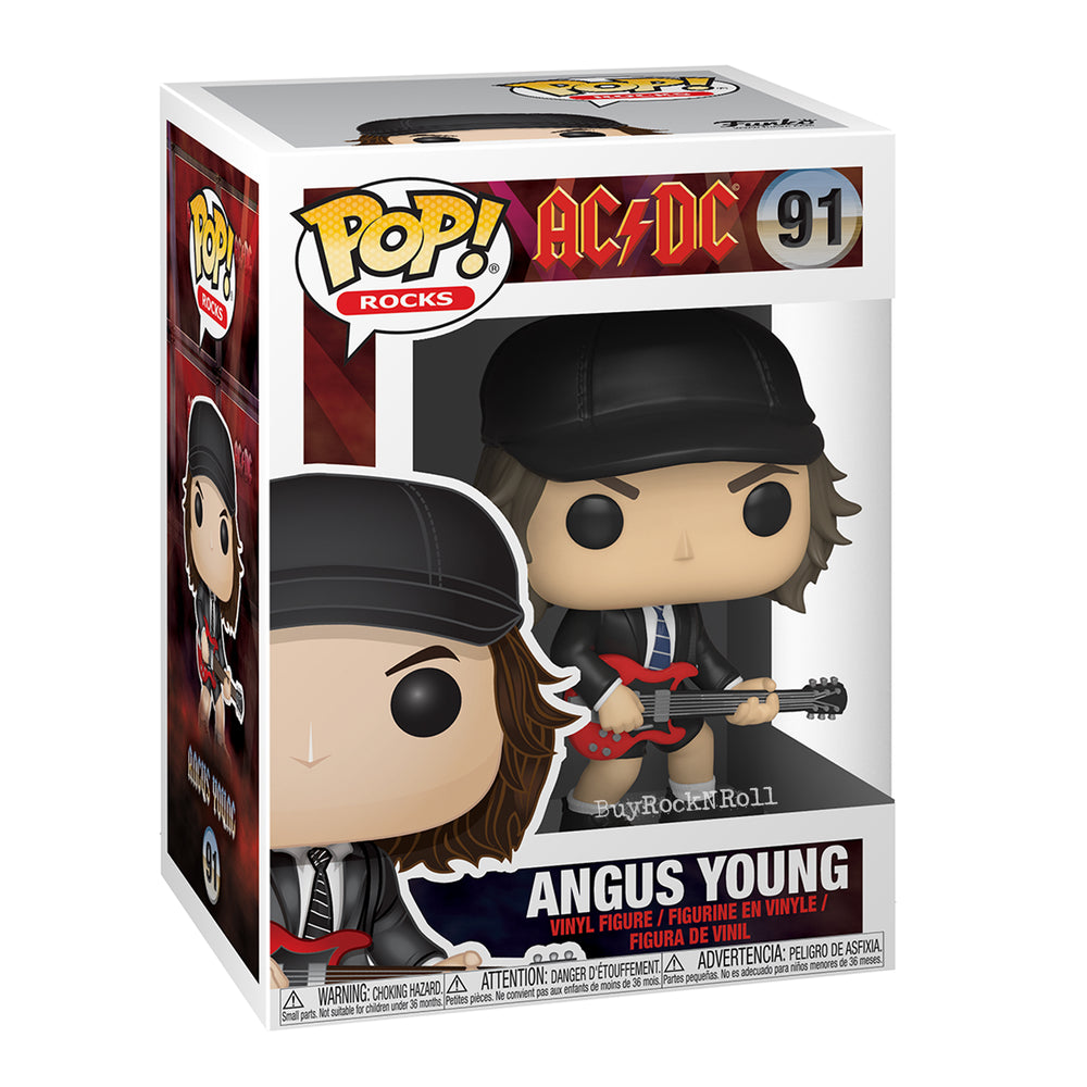 AC/DC Collectible: Handpicked 2019 Funko Pop! Rocks Angus Young Figure #91