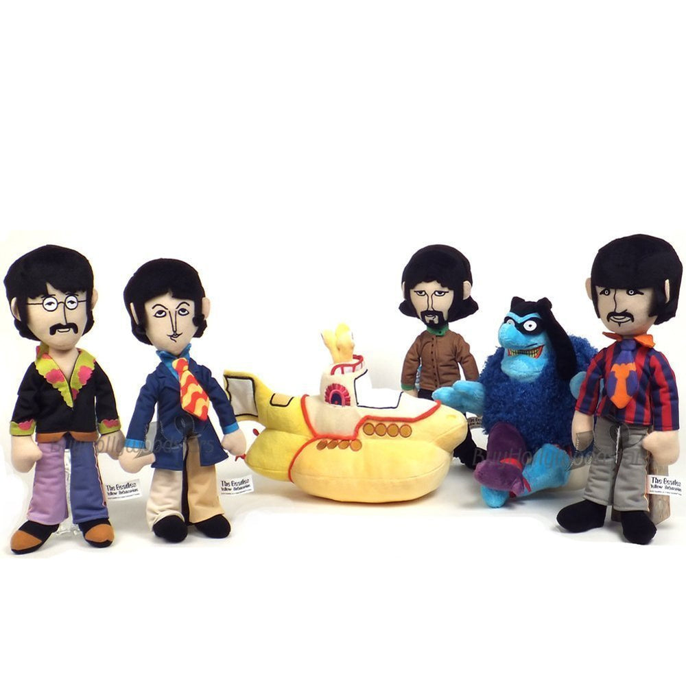 Beatles Collectible 2012 Factory Entertainment Yellow Submarine Band Members Plush Doll Set