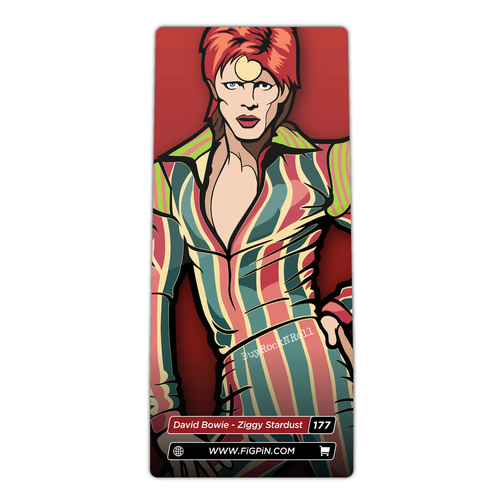 David Bowie 2019 FiGPiN Ziggy Stardust Pin #177 in Custom Display & Jewel Case