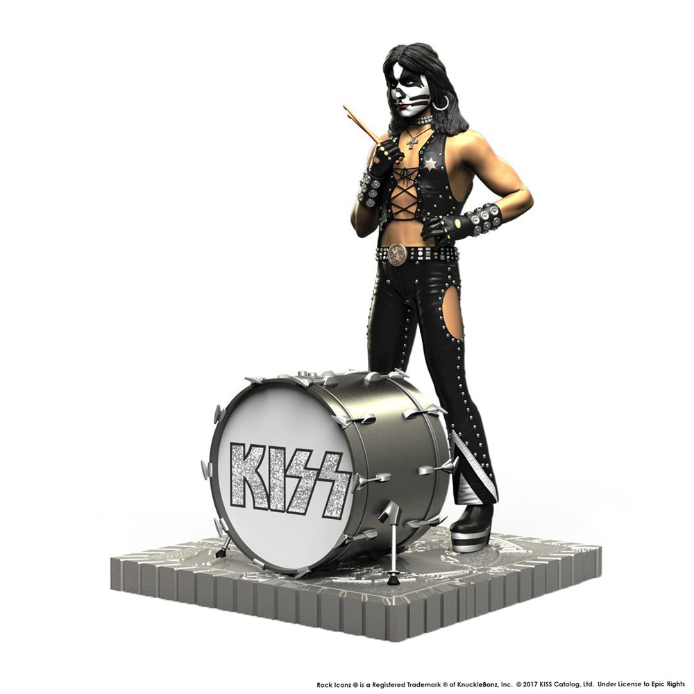 KISS 2017 KnuckleBonz Rock Iconz Hotter Than Hell Peter Criss Statue #243 /3000