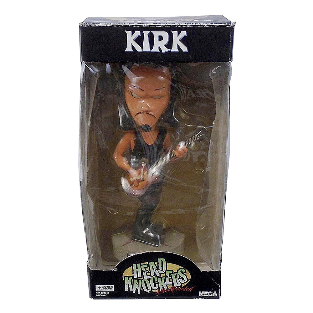 Metallica Collectible: Rare 2003 NECA Kirk Hammett Head Knocker Bobblehead Figure