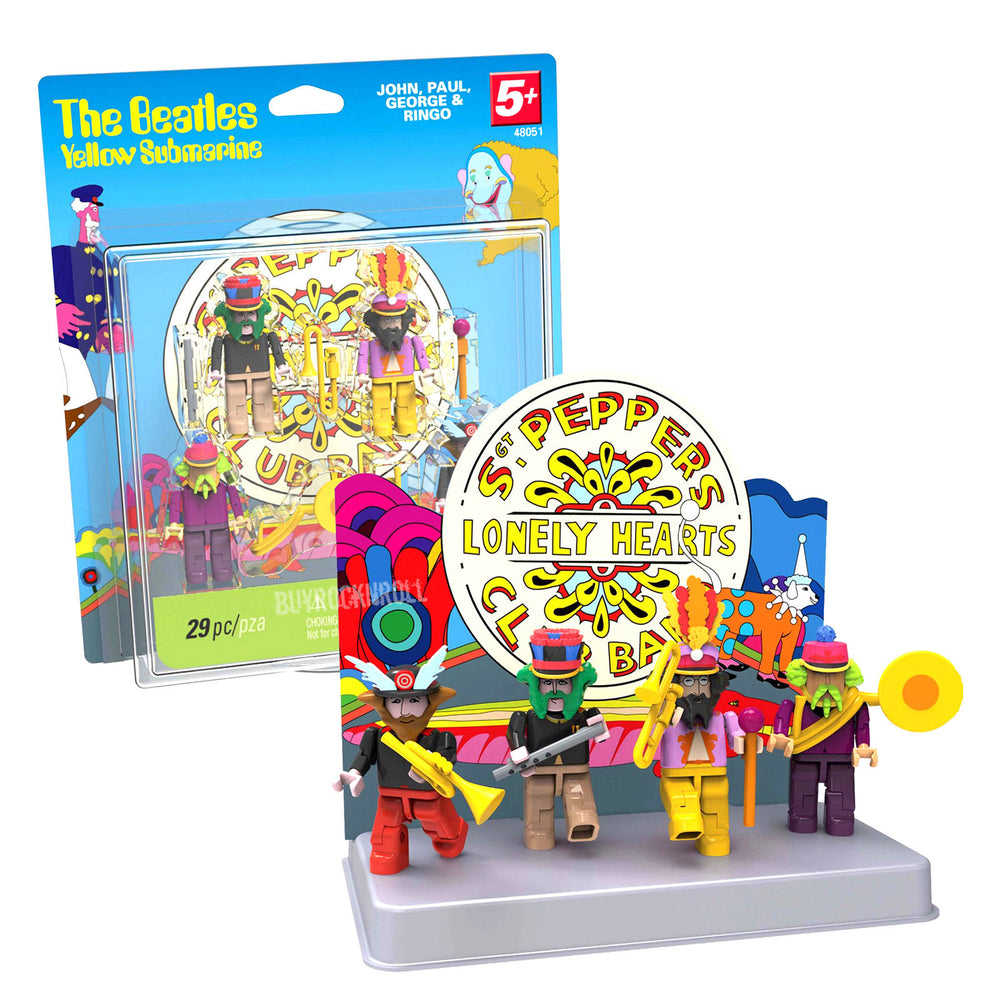 Beatles Collectibles: 2012 K'NEX Yellow Submarine Sgt Pepper Mini Figures Series 2