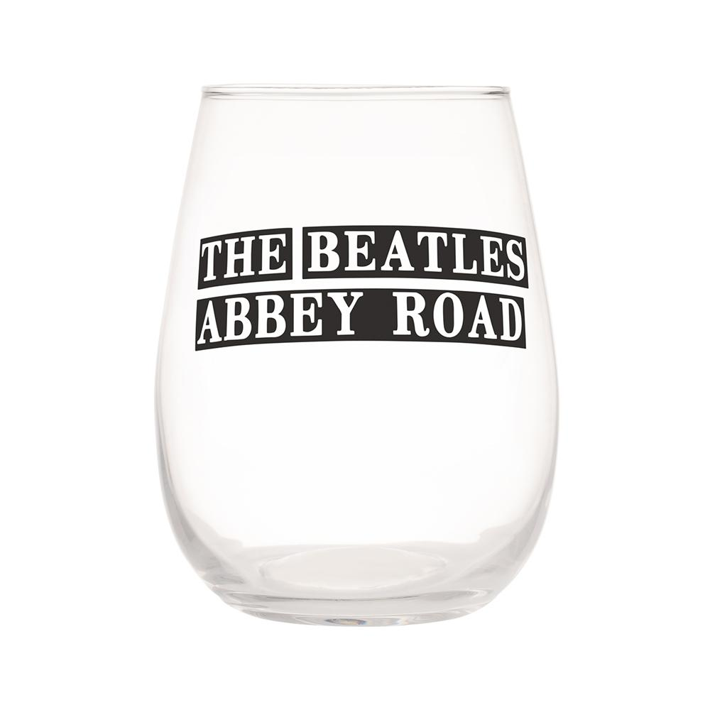 Beatles Collectibles Vandor 2018 Abbey Road 18 Oz Contour Glasses - Set of 2
