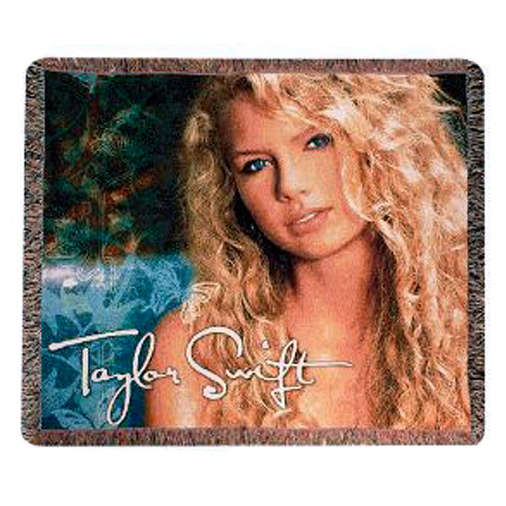 Taylor Swift Rare Collectible: Limited Edition Self-Titled Album Woven Blanket