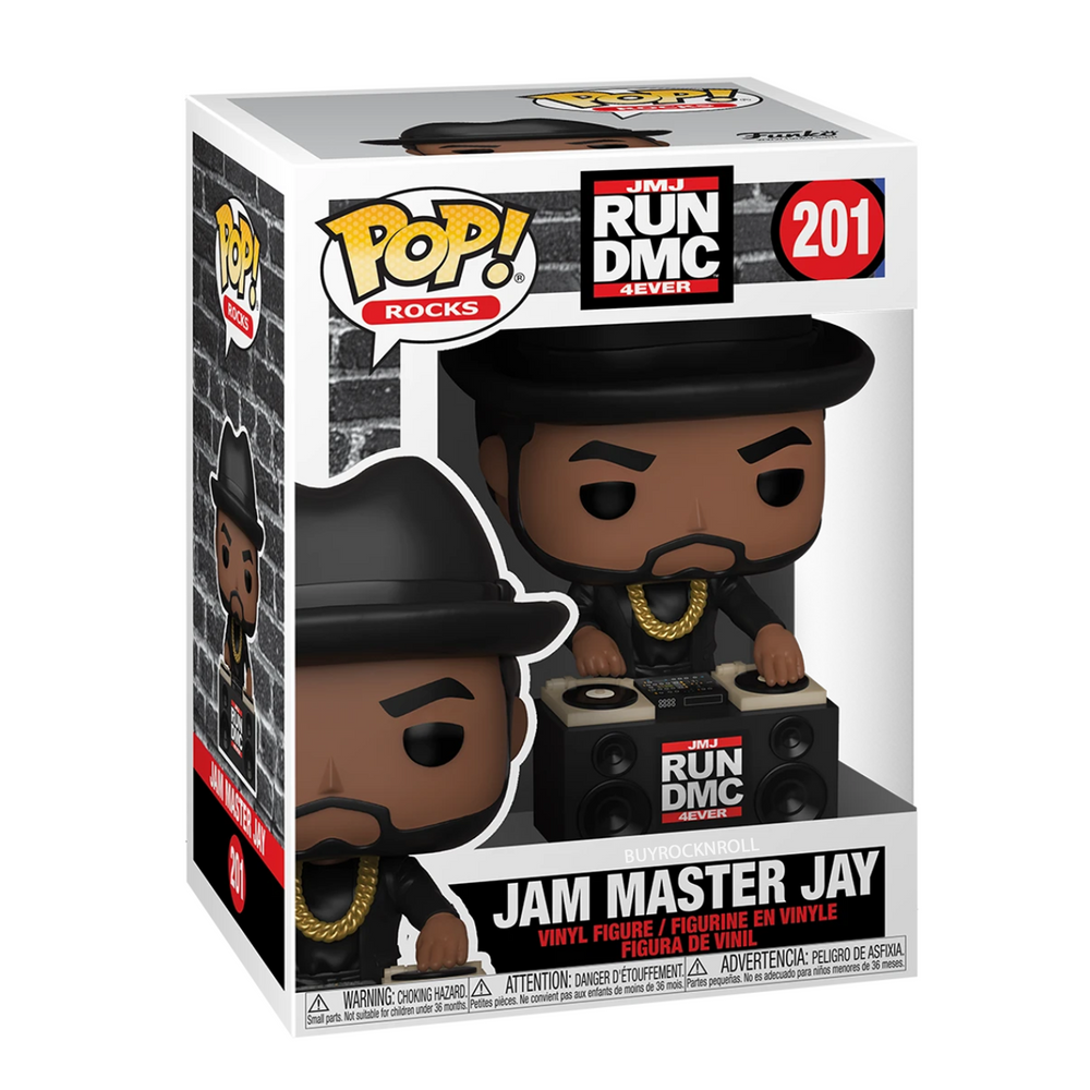 RUN DMC Jam Master Jay Handpicked 2020 Funko Pop Rocks Figure Set In Protectors