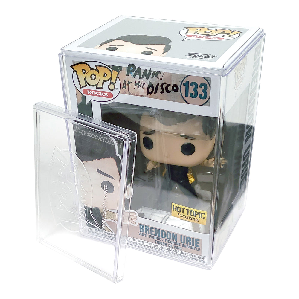 Panic At the Disco Collectible 2019 Funko Pop Rocks Brendon Urie Figure in a Stacks Display