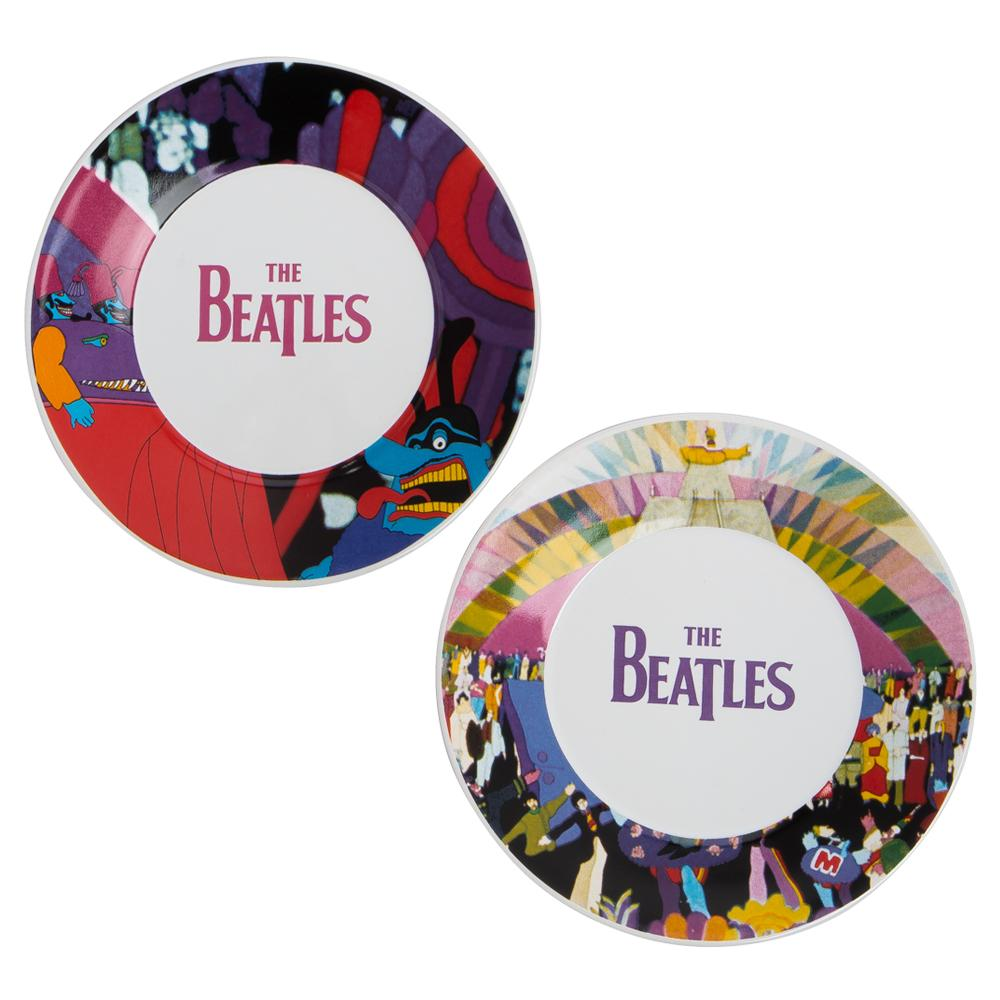 Beatles Collectibles 2016 Vandor Yellow Submarine Teacups & Saucers Set of 2 (PP)