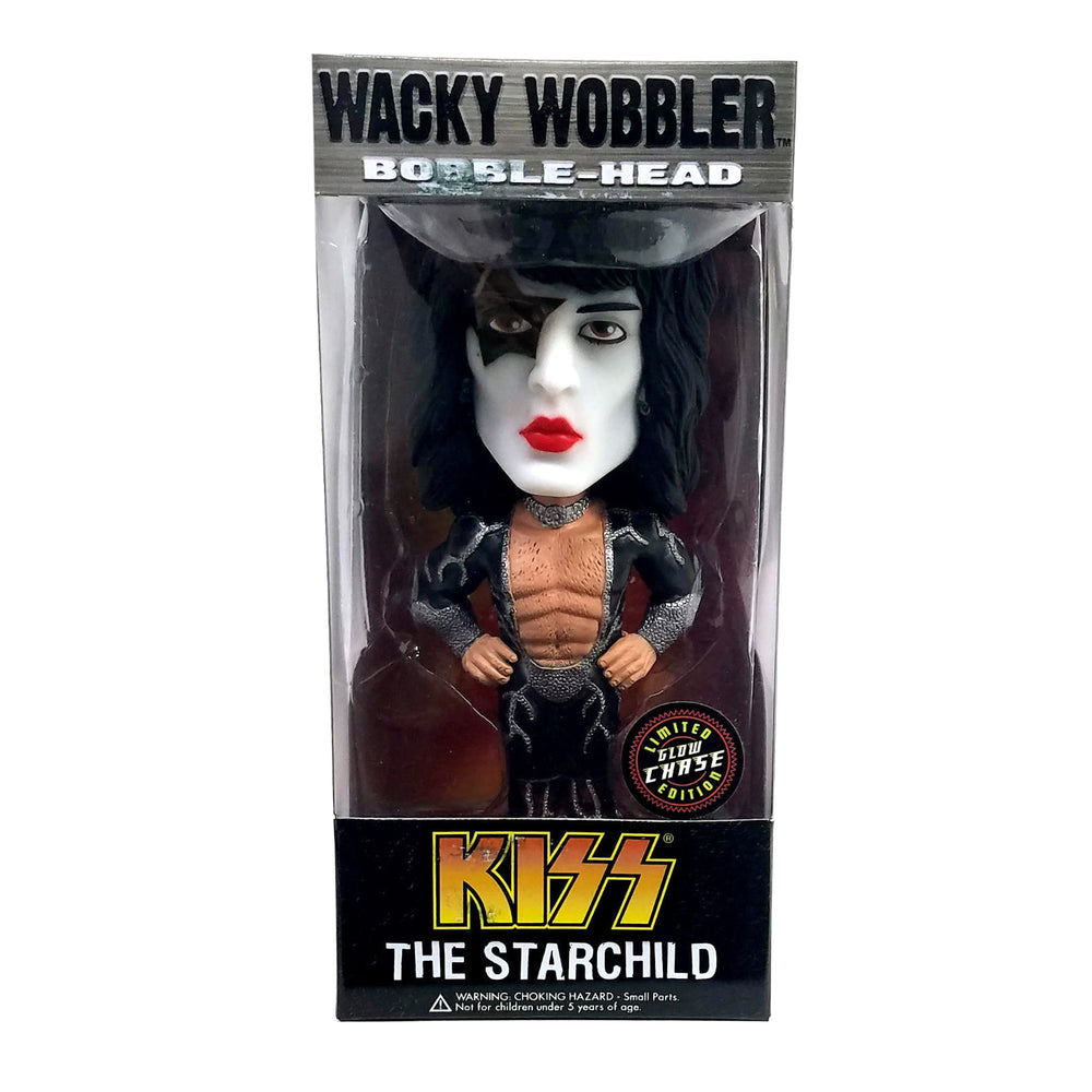 KISS Collectible: 2011 Funko Paul Stanley The Starchild Wacky Wobbler Glow Chase Variant