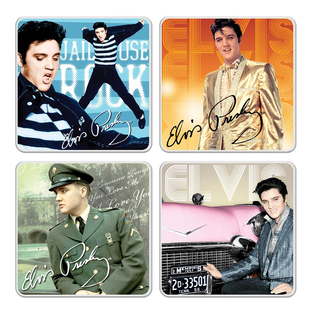 Elvis Presley Collectibles 2018 Vandor Ceramic Coaster Set of 4