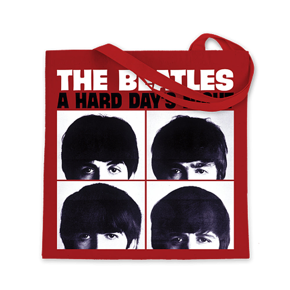 The Beatles 2014 Bravado A Hard Day's Night LP Album Cover Red Tote Bag