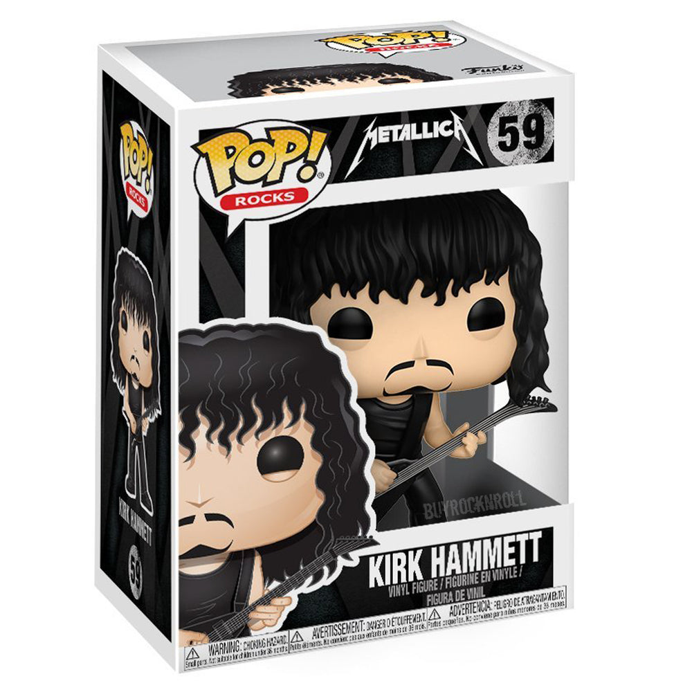Metallica Collectibles: 2017 Funko POP! Rocks Vinyl Figures - 4 Band Members + Lady Justice