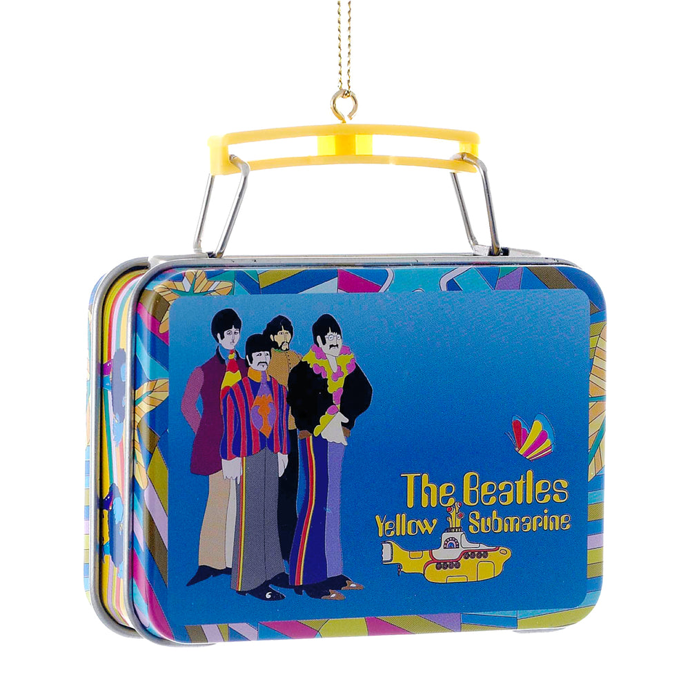 Beatles Collectibles: 2013 Kurt Adler Lunch box Christmas Ornament Set