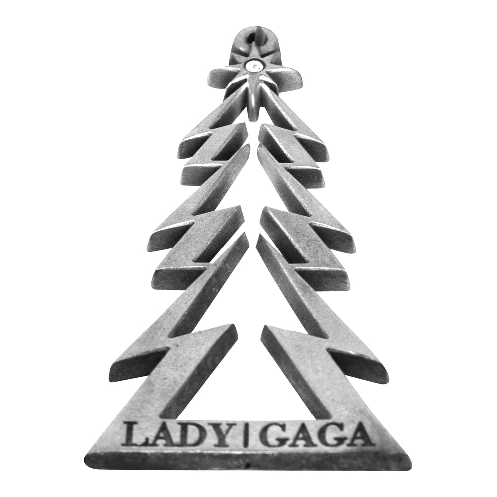 "Lady Gaga Collectible 2010 Metal Christmas Tree 3"" Ornament in Gift Box -Rare"