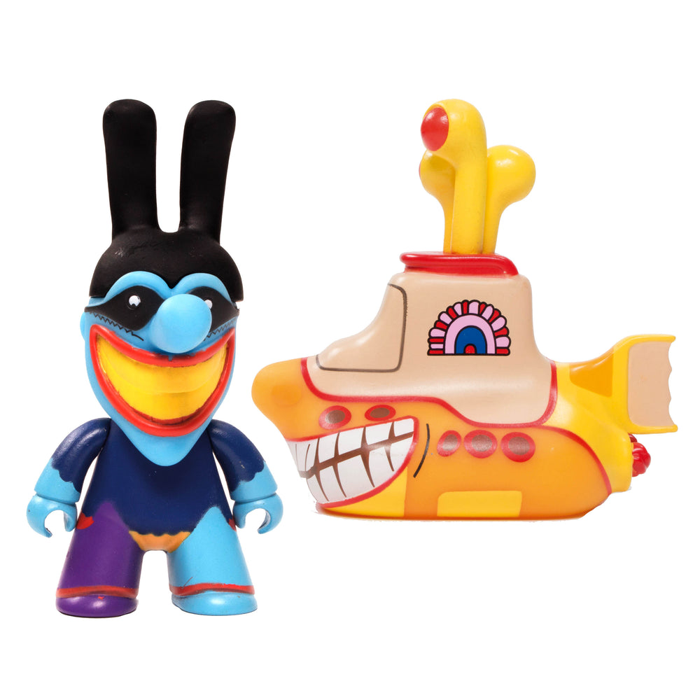 Beatles 2019 Titans 6.5 inch Smiling Yellow Submarine and 4.5 inch Blue Meanie