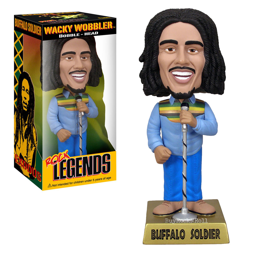 Bob Marley Collectible Rare 2009 Funko Buffalo Soldier Wacky Wobbler