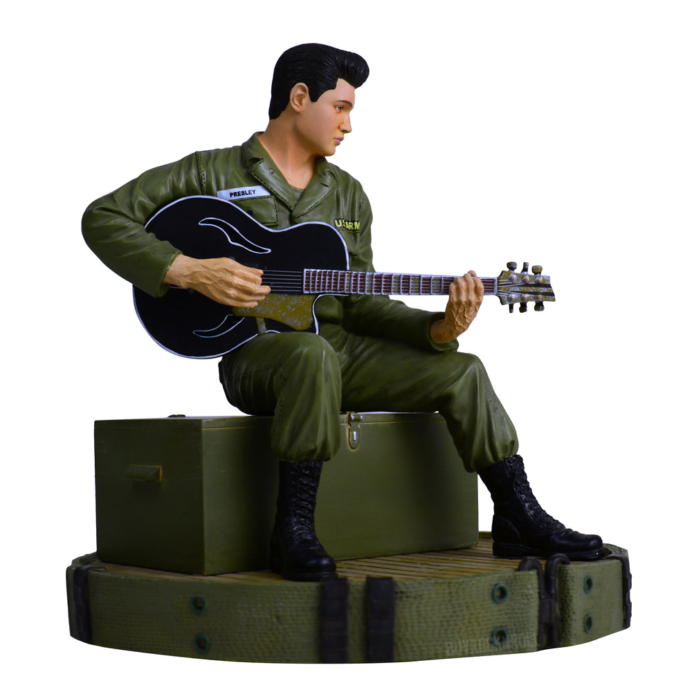 Elvis Presley Collectible: KnuckleBonz 2009 Elvis In Army Rock Iconz Statue #146