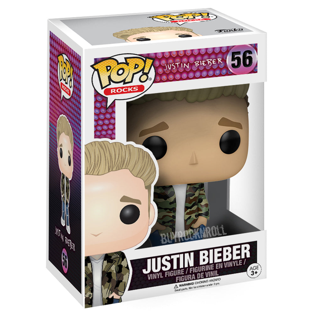 Justin Bieber Handpicked 2017 Funko POP! Rocks Figure in Protector Display Case
