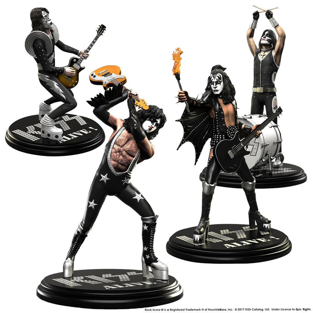 KISS Collectible: 2017 KnuckleBonz Rock Iconz Alive Statue Set