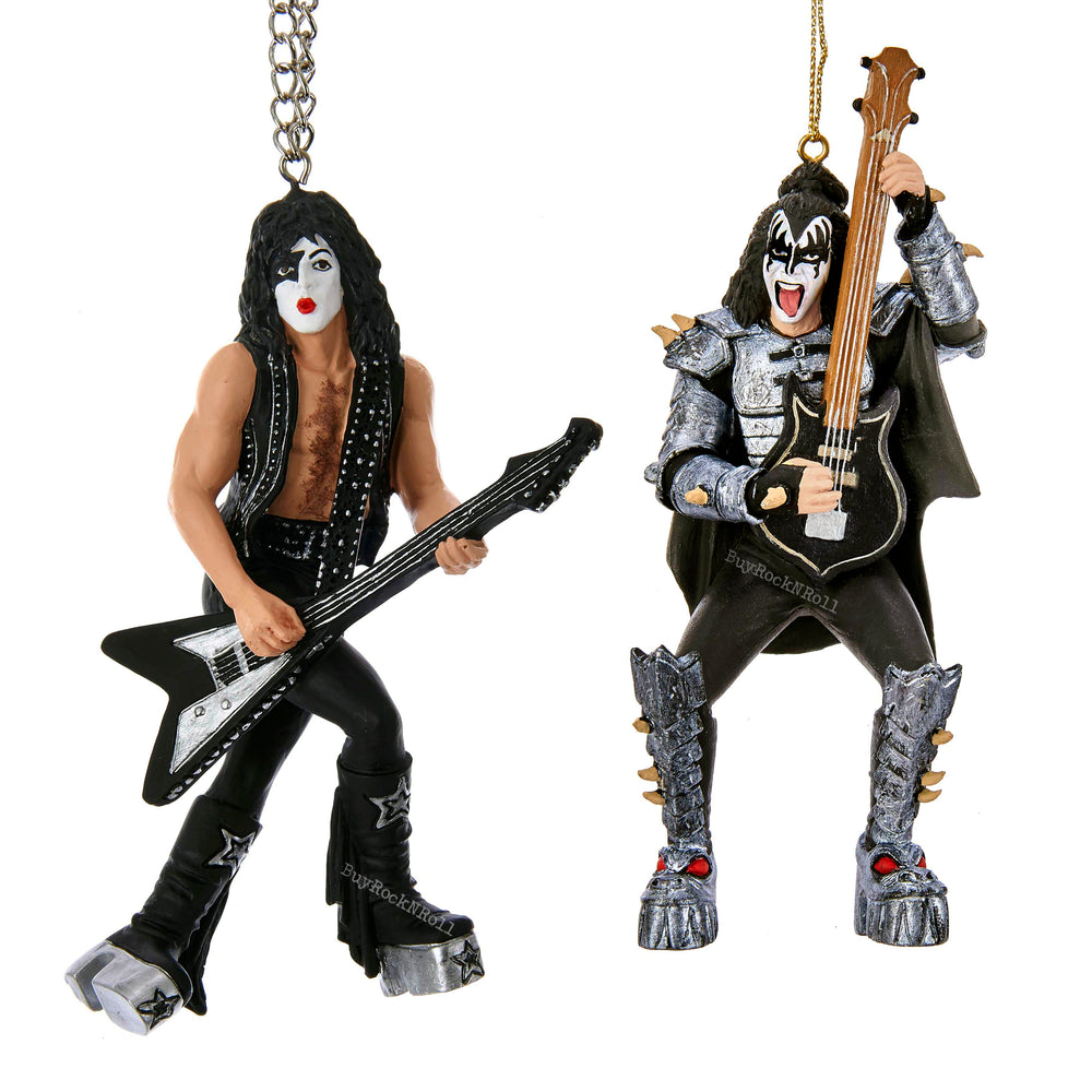 KISS Collectibles Kurt Adler Demon & Starchild Christmas Tree Holiday Ornaments
