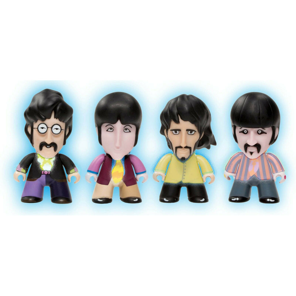 Beatles Titans Yellow Submarine Glow In The Dark Fab Four Blue Meanie & Sub Figures Set of 6