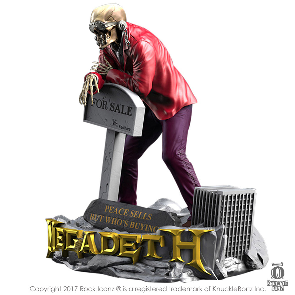 "Megadeth Collectible: 2017 KnuckleBonz Rock Iconz Vic Rattlehead ""Peace Sells"" Statue #184"