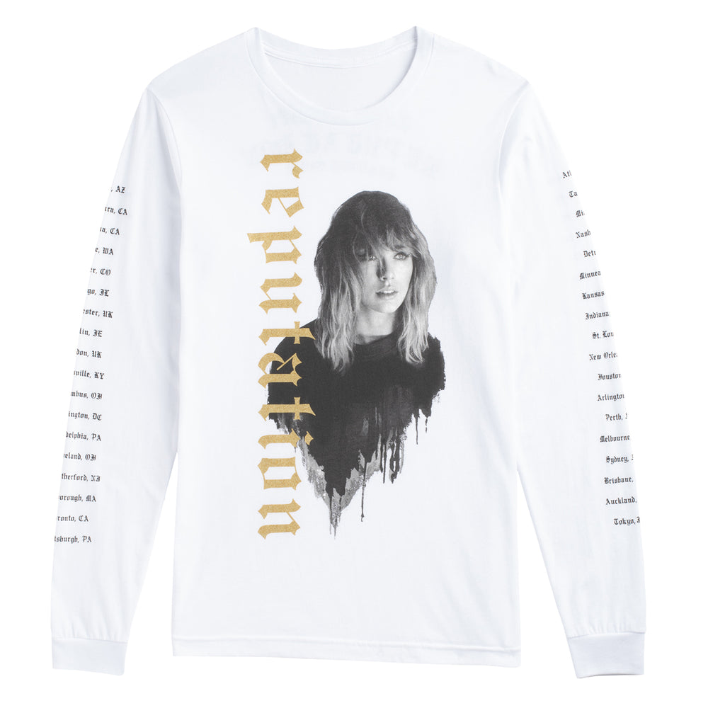 Taylor Swift Collectible: 2018 Reputation Stadium Tour Long Sleeve Tee Shirt MD