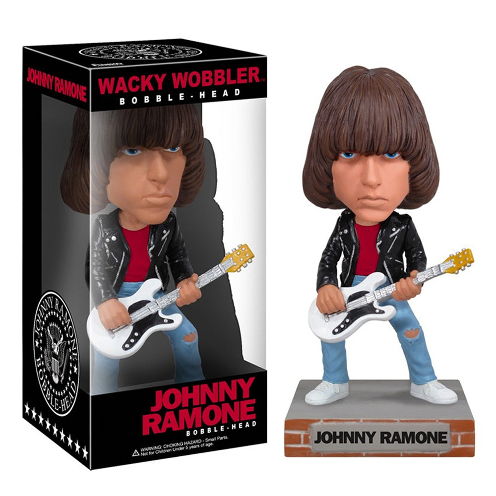 Ramones Collectibles: 2010 Funko Johnny & Dee Dee Wacky Wobbler Set - Bobbleheads