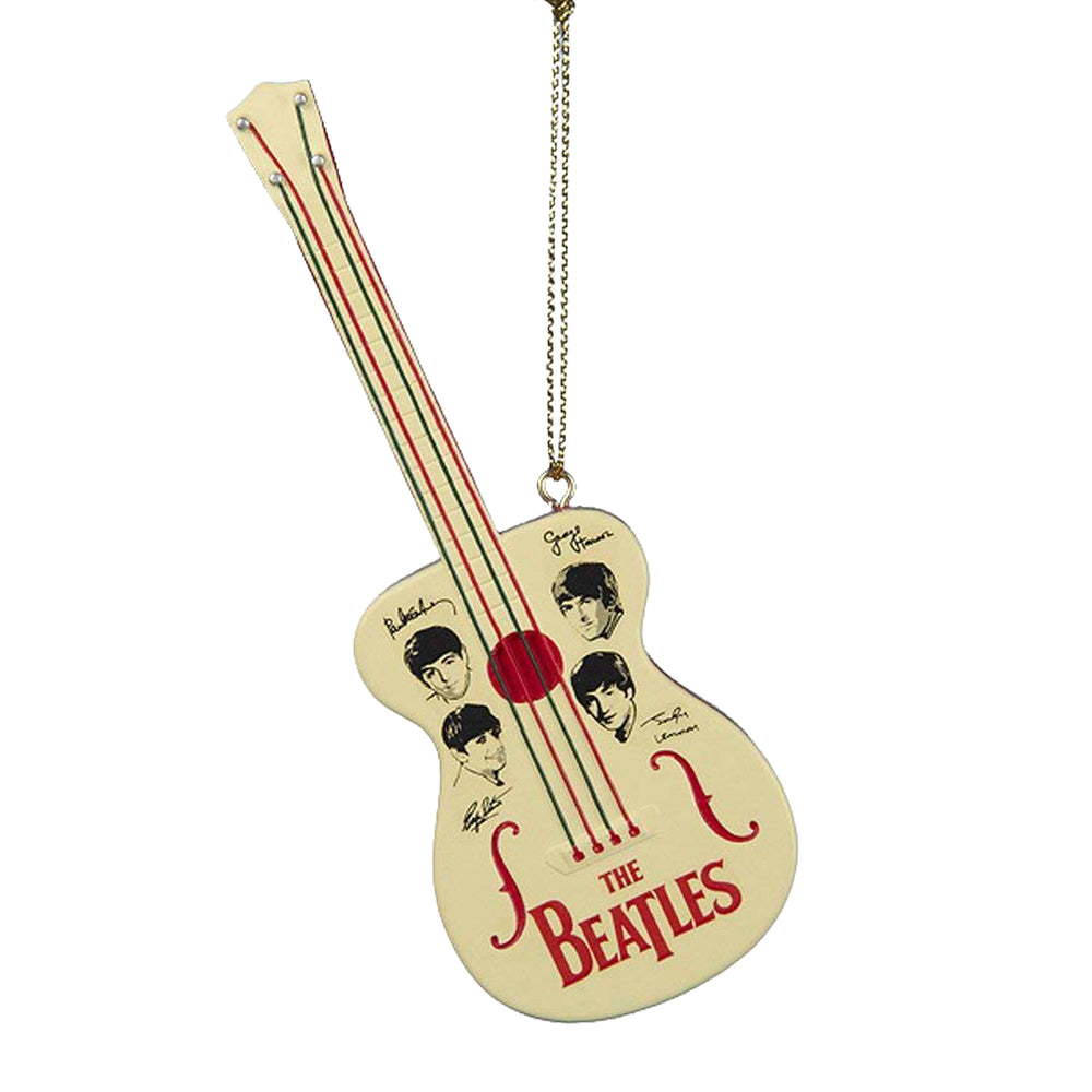 "Beatles Collectible: 2015 Kurt Adler Retro Toy 5"" Guitar Christmas Ornament"