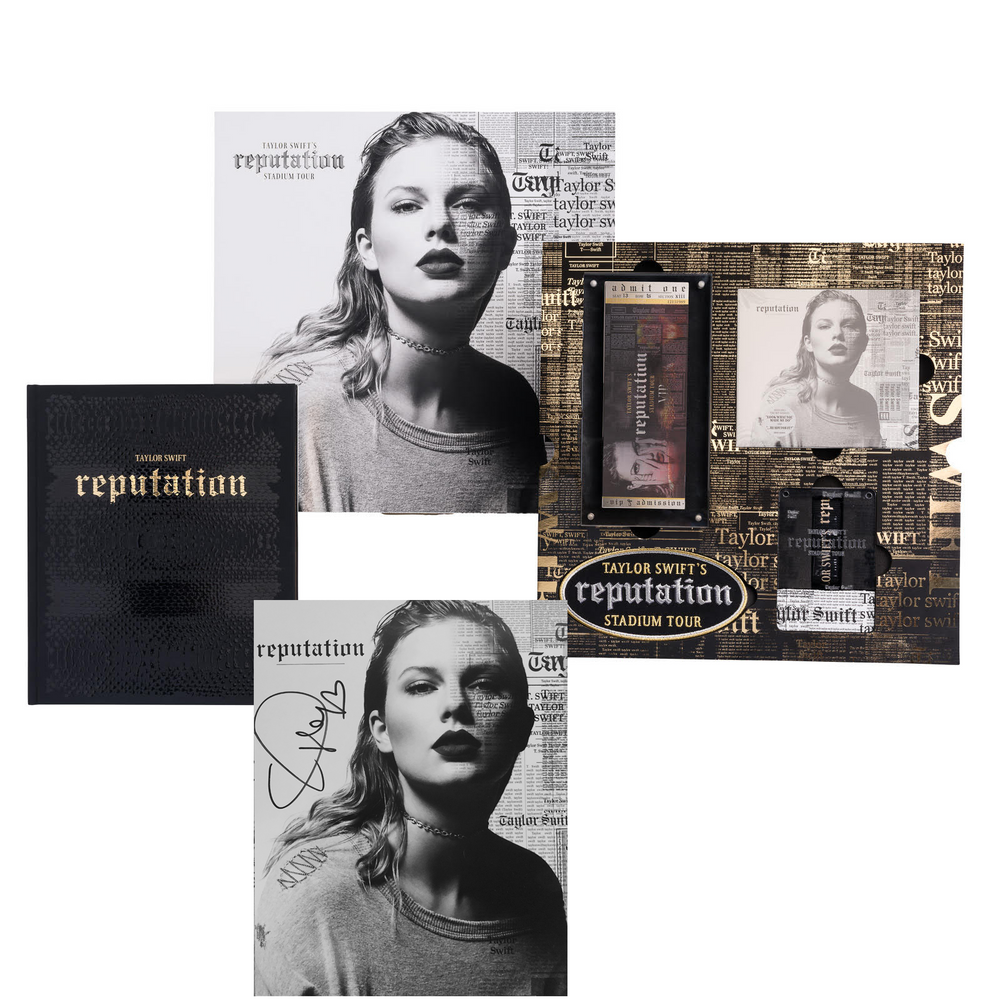Taylor Swift Collectible: Reputation Stadium Tour Collectors Box + Signed Photo