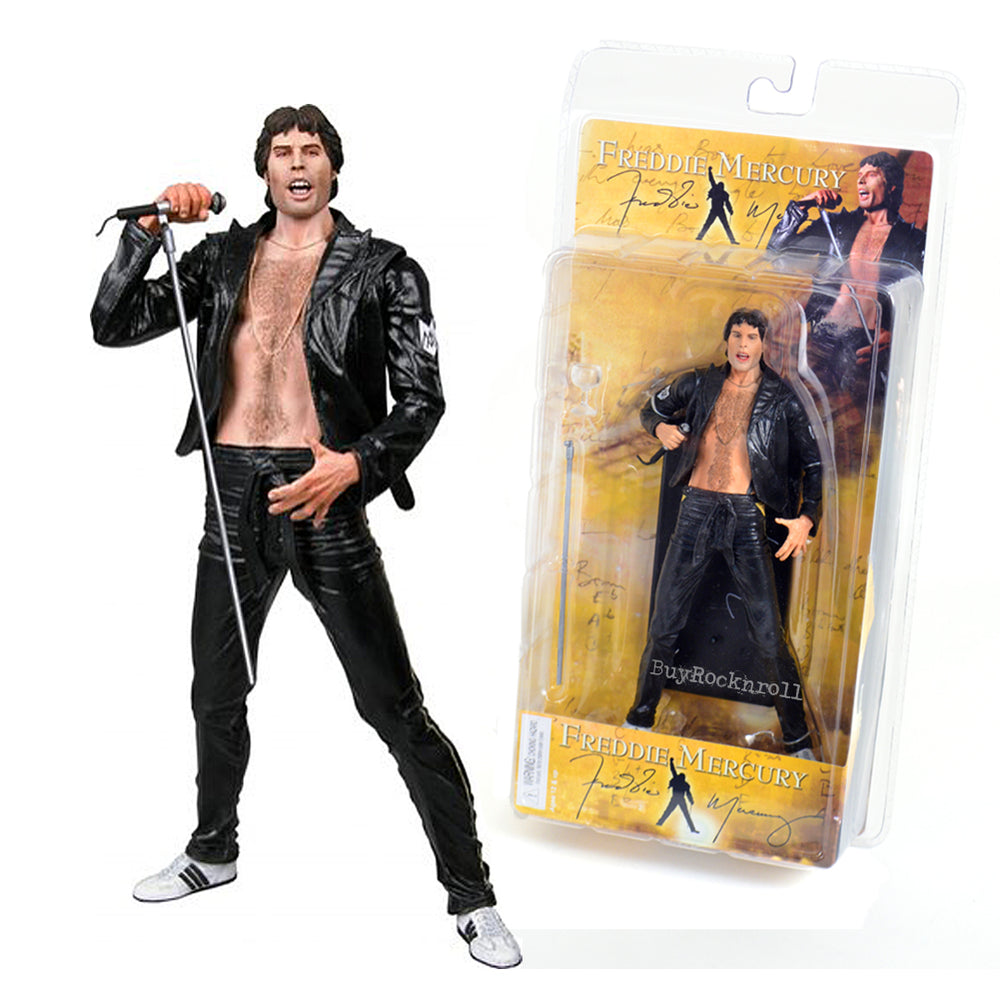 Queen Collectible: 2006 NECA Freddie Mercury 7-inch Figure - 1970's Leather Look