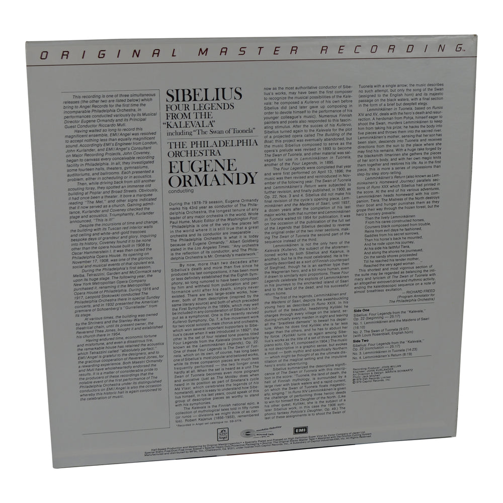 MFSL: 1979 Mobile Fidelity Four Legends from the Kalevala Op. 22 LP #1-523