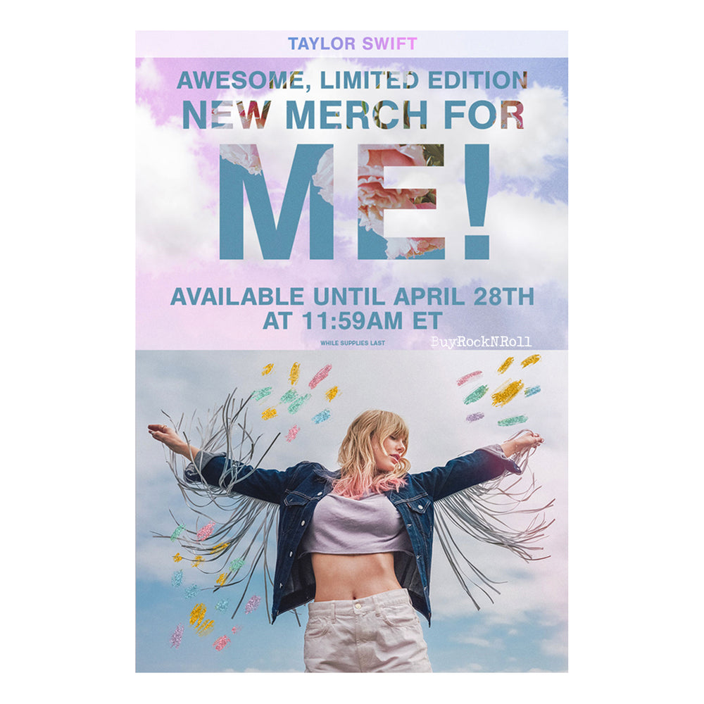 Taylor Swift Collectible: Limited Edition ME Merch Lithograph - (Poster Litho)