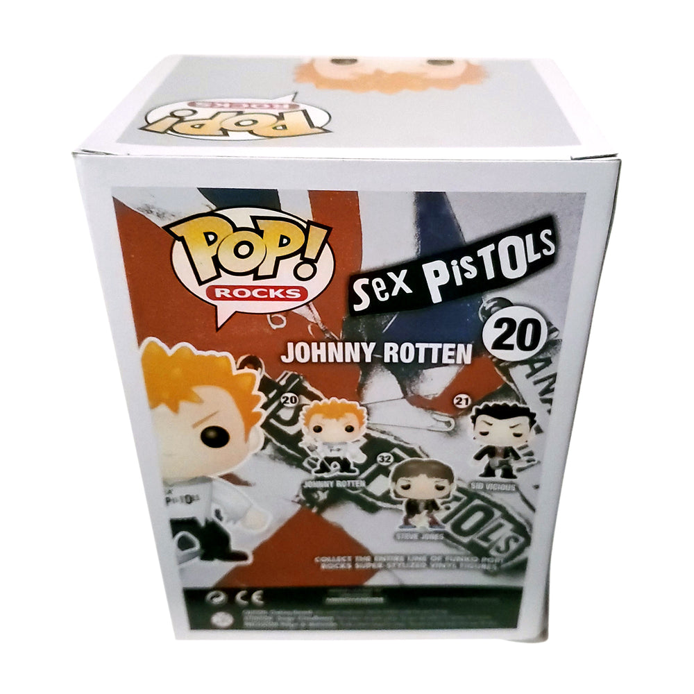 Sex Pistols Collectible 2012 Funko Pop! Rocks Johnny Rotten Figure in a Stacks Display Case