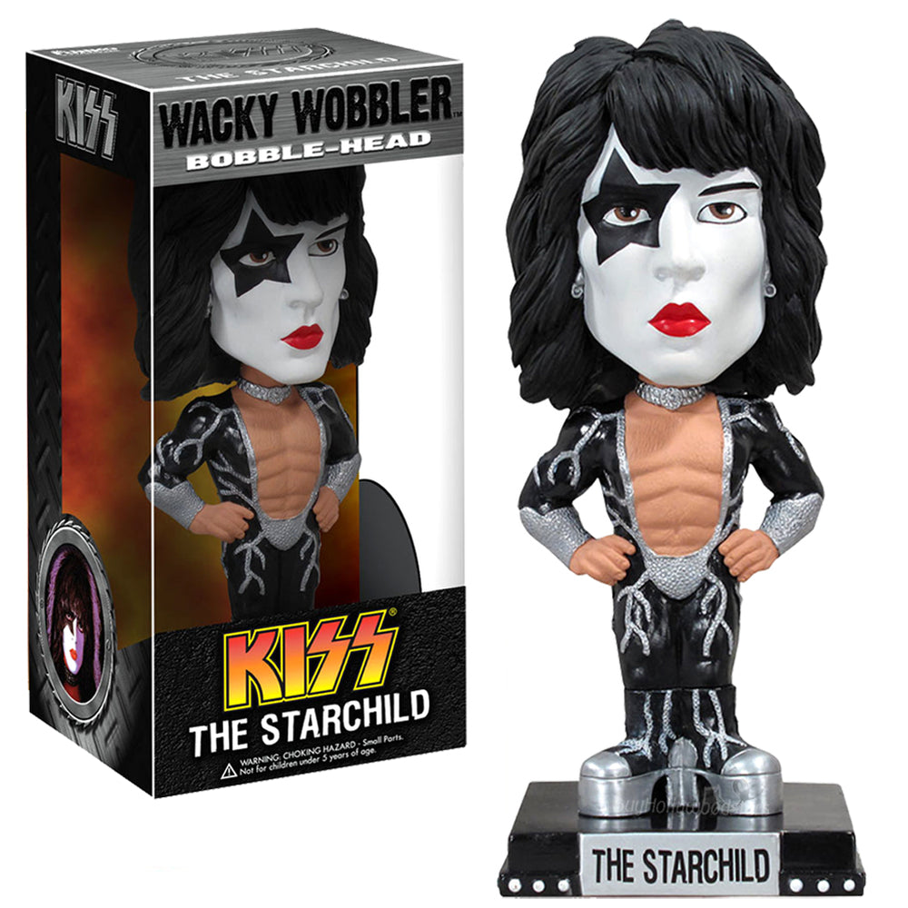 KISS 2011 Funko Wacky Wobbler Set of 4:  Demon  Starchild Spaceman Catman