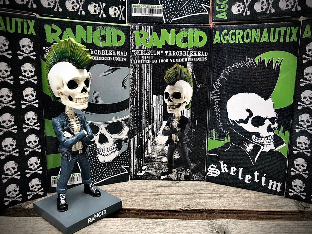 Rancid 2020 Aggronautix Skeletim Throbblehead V2 Limited Edition of 1000
