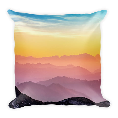 Mountain Colors Square Pillow