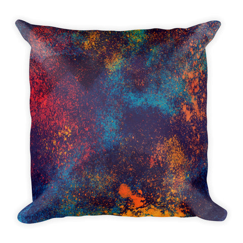 Paint Splatter Square Pillow