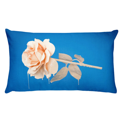 Rose Paint Rectangular Pillow