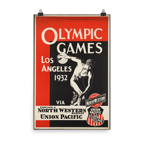 Los Angeles Olympic Games 1932 Vintage Poster