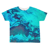 Turqoise Ocean All-over kids sublimation T-shirt