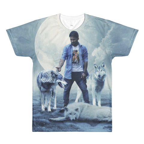 The Stockshirt Wolf tamer Sublimation men's crewneck t-shirt
