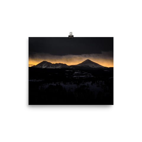 Mountain Shapes Photo paper poster