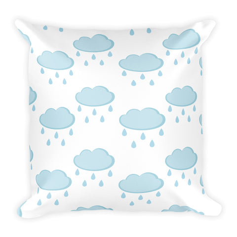 Rainy Clouds Square Pillow